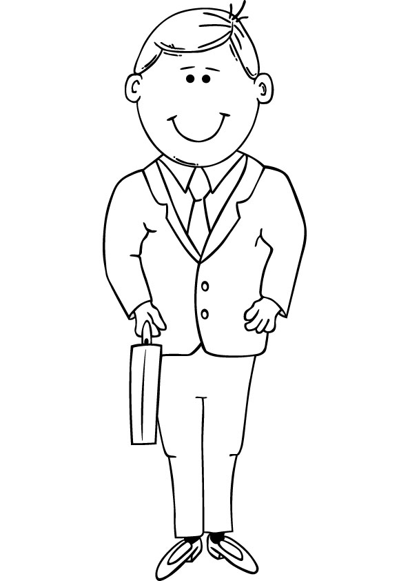 coloring page of a man business man coloring pages best place to color coloring page man of a