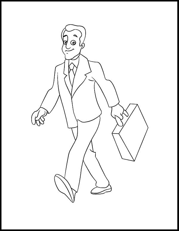 coloring page of a man business man walking confidently coloring pages best page man coloring a of