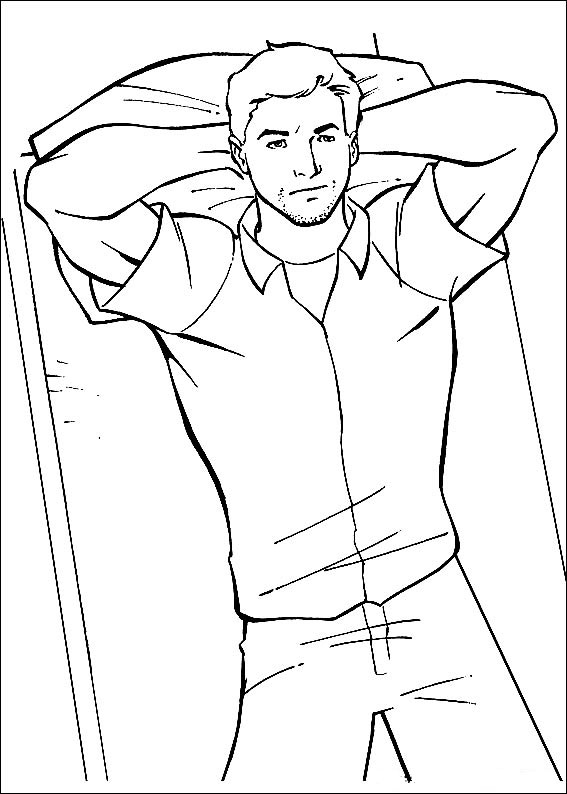 coloring page of a man ginger man coloring page coloring home a coloring man of page