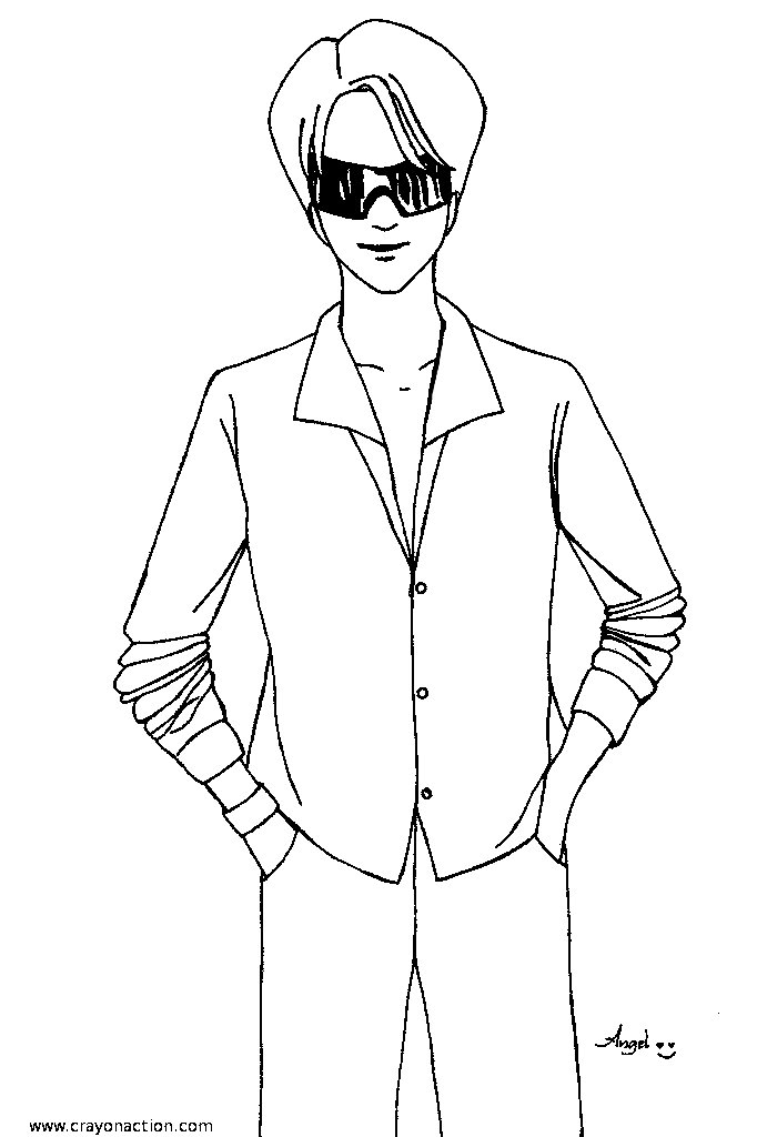 coloring page of a man popular male student in high school musical coloring page coloring a of man page