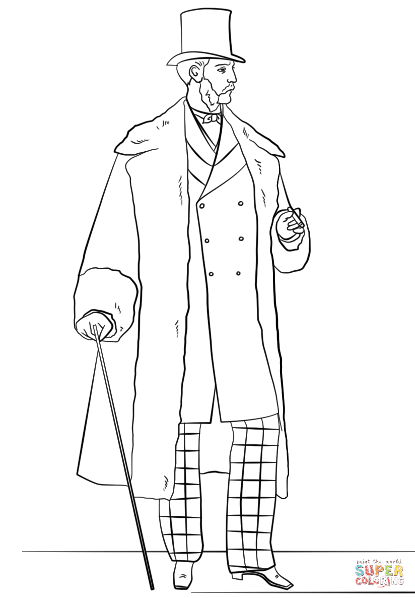coloring page of a man victorian men39s fashion coloring page free printable page of man a coloring