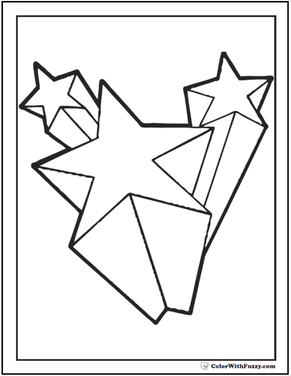 coloring page stars star line drawing clipartsco stars page coloring