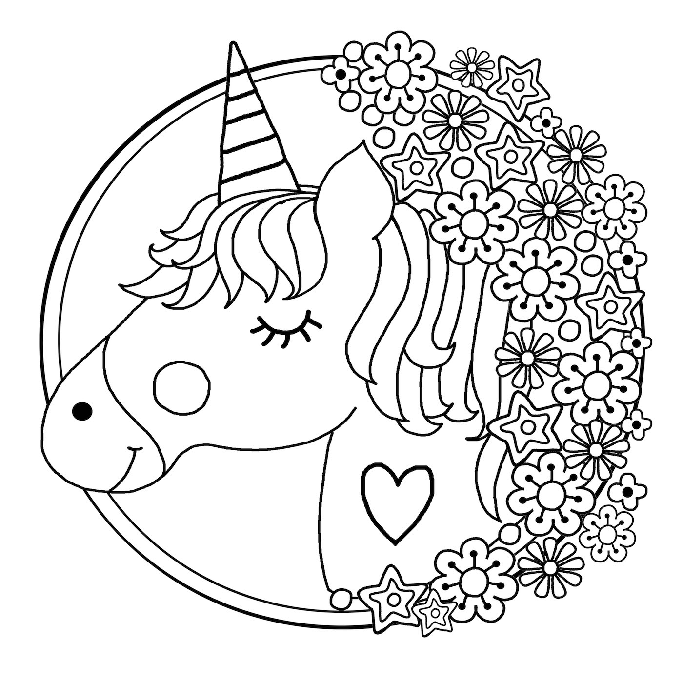 coloring page unicorn free printable unicorn coloring pages kids coloring page unicorn