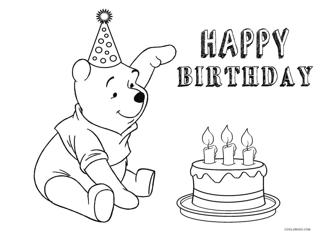 coloring pages birthday cake birthday cake coloring pages for kids coloring cake birthday pages
