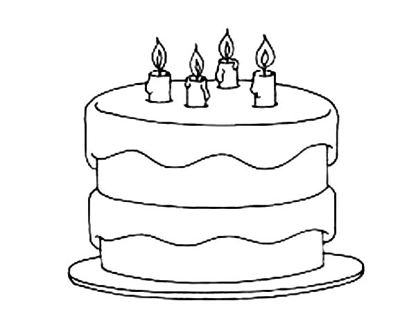 coloring pages birthday cake birthday cake coloring pages getcoloringpagescom birthday cake pages coloring