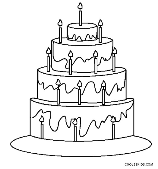 coloring pages birthday cake birthday cake coloring pages hellokidscom pages birthday coloring cake
