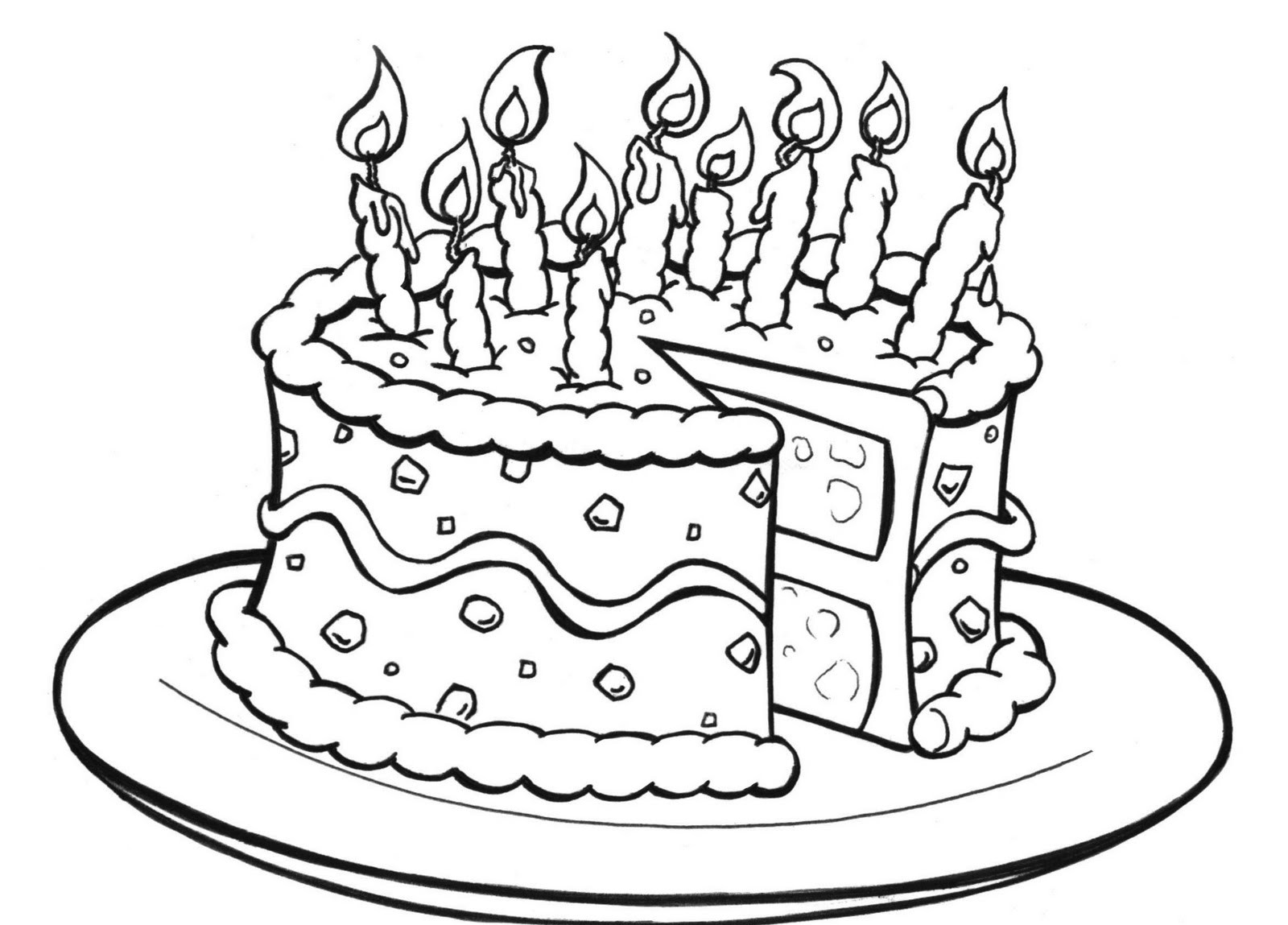 coloring pages birthday cake birthday candle coloring page at getcoloringscom free coloring pages cake birthday