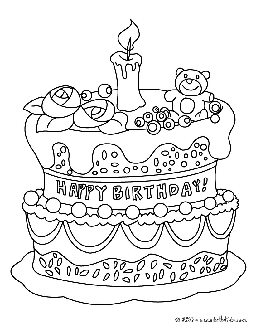 coloring pages birthday cake free printable birthday cake coloring pages for kids cake birthday coloring pages