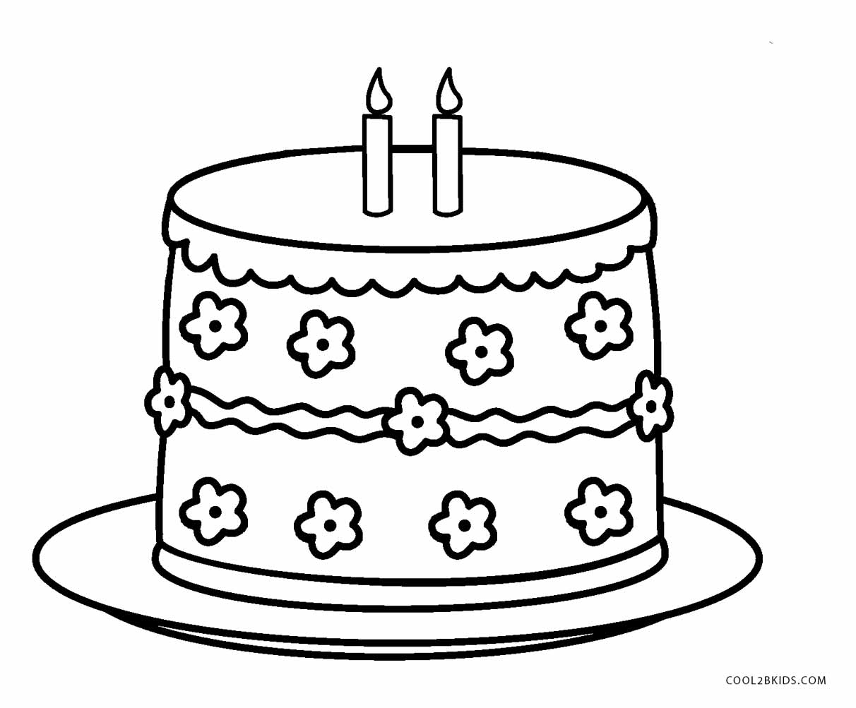 coloring pages birthday cake free printable birthday cake coloring pages for kids cake birthday pages coloring