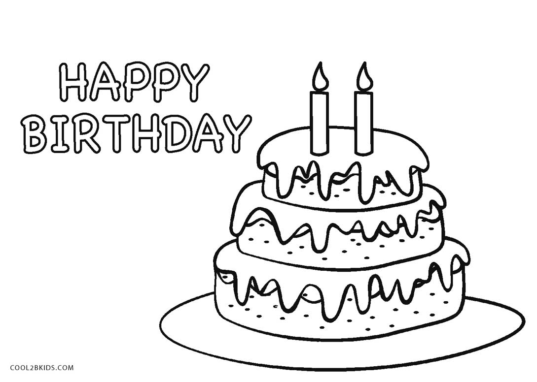 coloring pages birthday cake free printable birthday cake coloring pages for kids cake coloring pages birthday