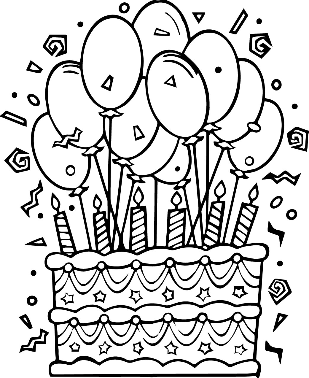 coloring pages birthday cake happy birthday coloring pages cake birthday coloring coloring pages birthday cake