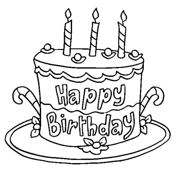coloring pages birthday cake happy birthday lizzie larval subjects pages coloring birthday cake
