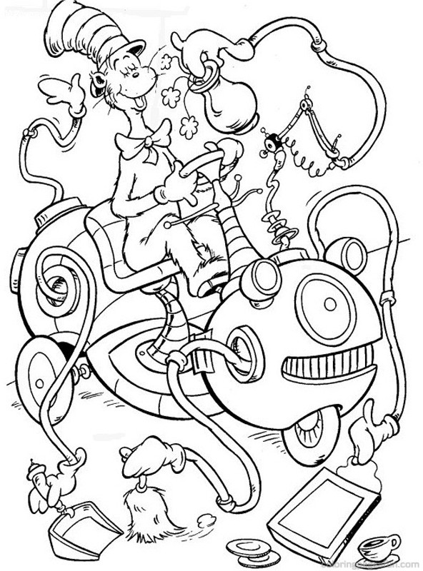 coloring pages cat in the hat cat in the hat coloring pages getcoloringpagescom hat cat in coloring the pages