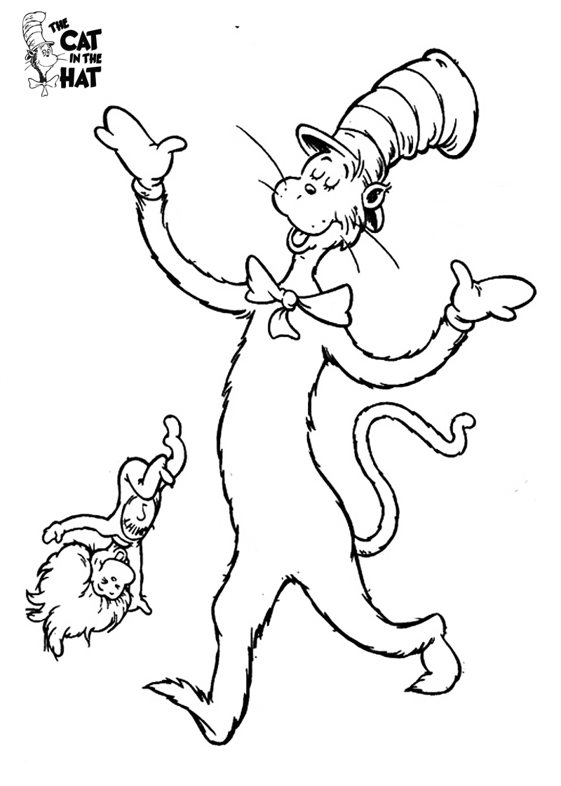 coloring pages cat in the hat cat in the hat coloring pages wwwcommconceptcom pages in cat hat coloring the