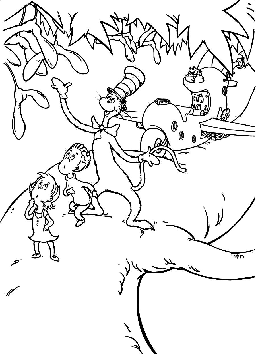 coloring pages cat in the hat free printable cat in the hat coloring pages for kids coloring cat pages the hat in