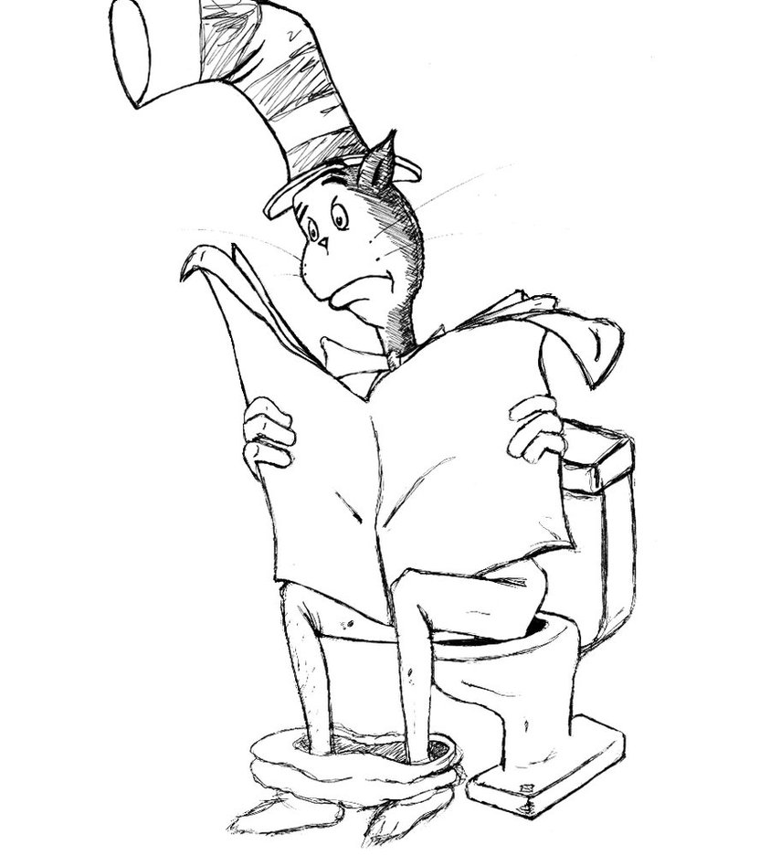 coloring pages cat in the hat free printable cat in the hat coloring pages for kids pages hat the in cat coloring
