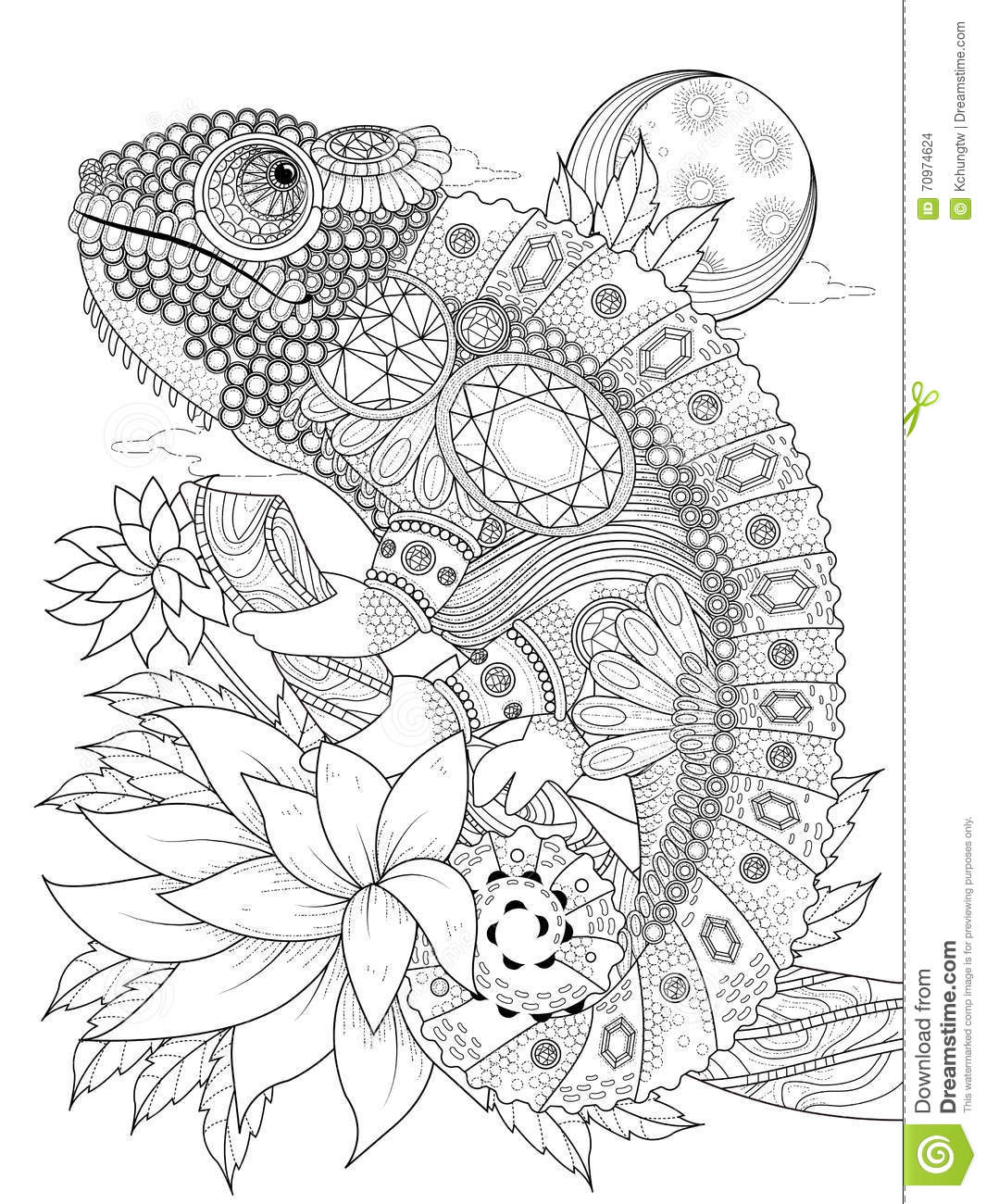 coloring pages for adults chameleon quotchameleon in zentangle style adult antistress coloring adults pages coloring for chameleon
