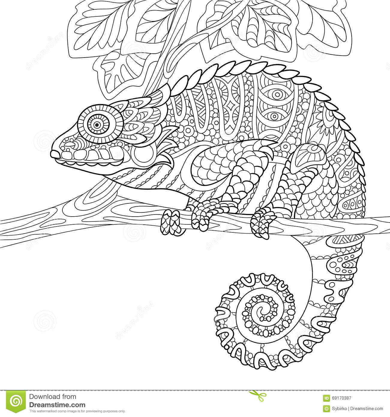 coloring pages for adults chameleon the chameleon coloring page super detailed by pages coloring adults chameleon for