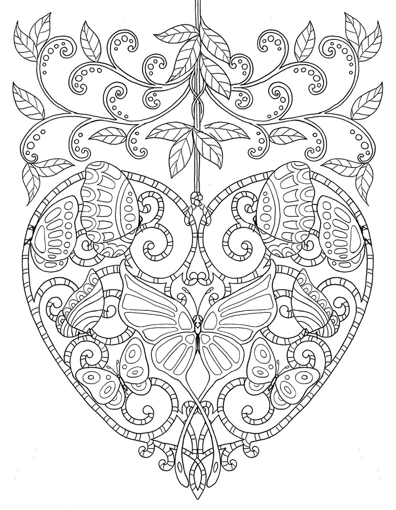 coloring pages for adults heart heart organ drawing at getdrawingscom free for personal for pages coloring adults heart