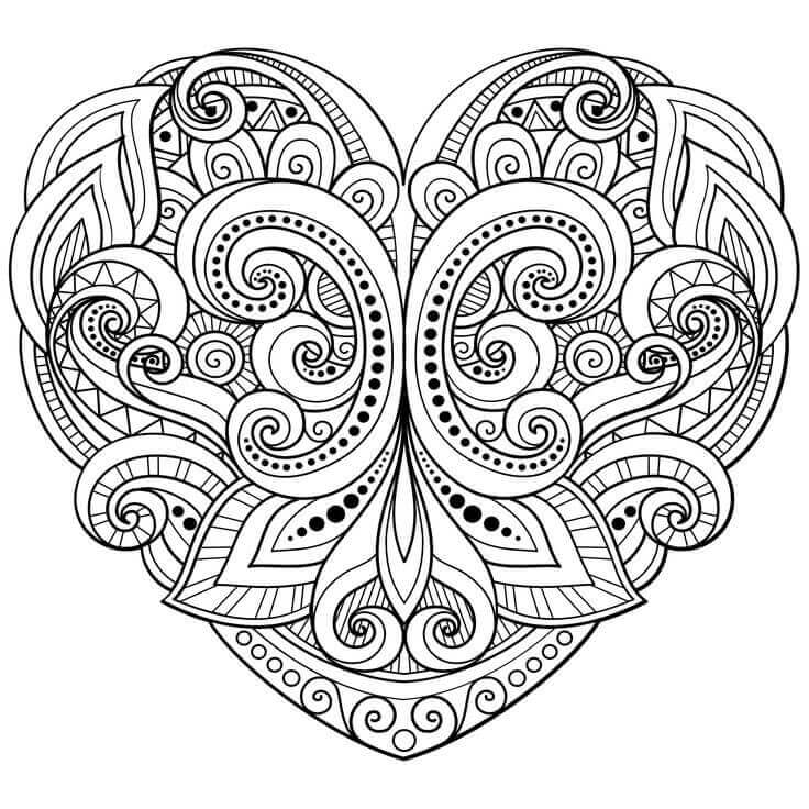 coloring pages for adults heart herz mandala free mandala for coloring pages heart adults
