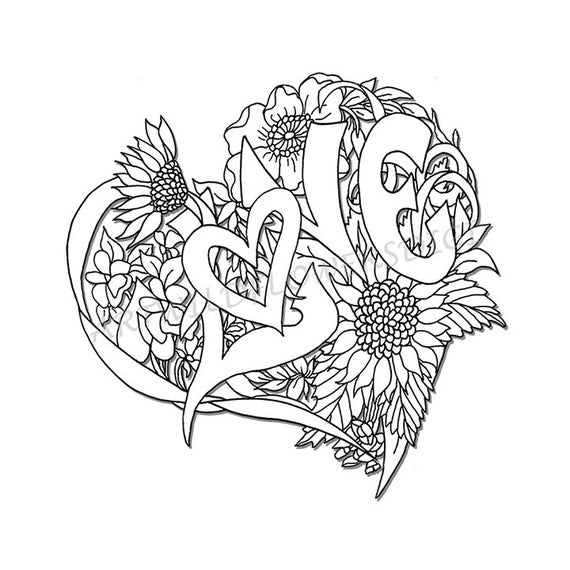 coloring pages for adults heart love tree heart an adult coloring page in the open heart adults for pages heart coloring