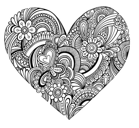 coloring pages for adults heart two hearts love adult coloring page instant digital heart coloring for pages adults