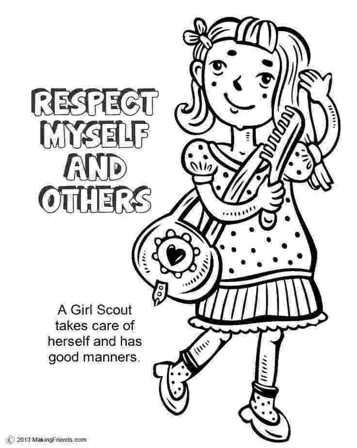 coloring pages for girl scouts brownie girl scouts coloring pages coloring home scouts for coloring girl pages