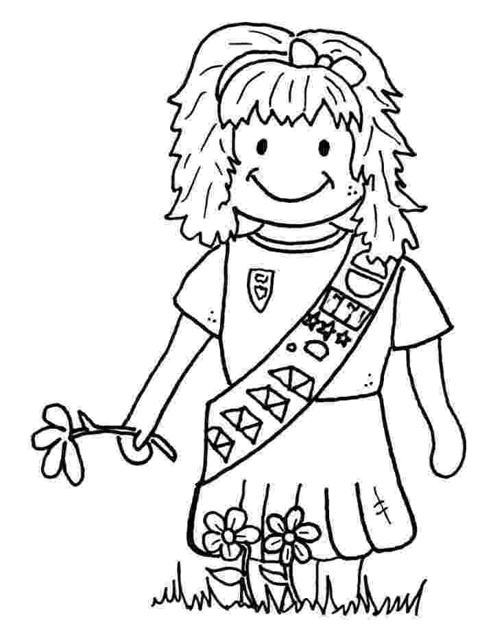 coloring pages for girl scouts girl scout brownie coloring pages gina39s board pinterest pages scouts girl for coloring
