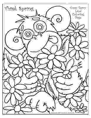 coloring pages for spring everybody is happy when spring is here coloring page spring coloring for pages