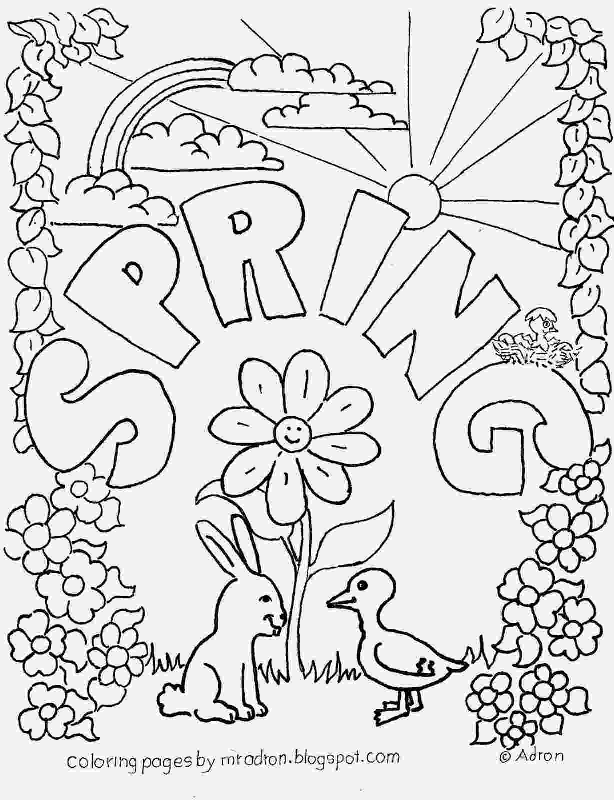 coloring pages for spring spring coloring pages best coloring pages for kids coloring for spring pages