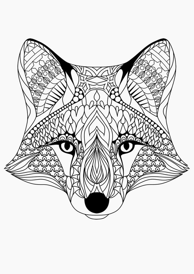 coloring pages fox free printable coloring pages for adults 12 more designs fox coloring pages