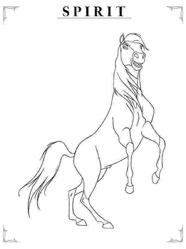coloring pages free spirit spirit the horse to print spirit drawing horse free coloring spirit pages