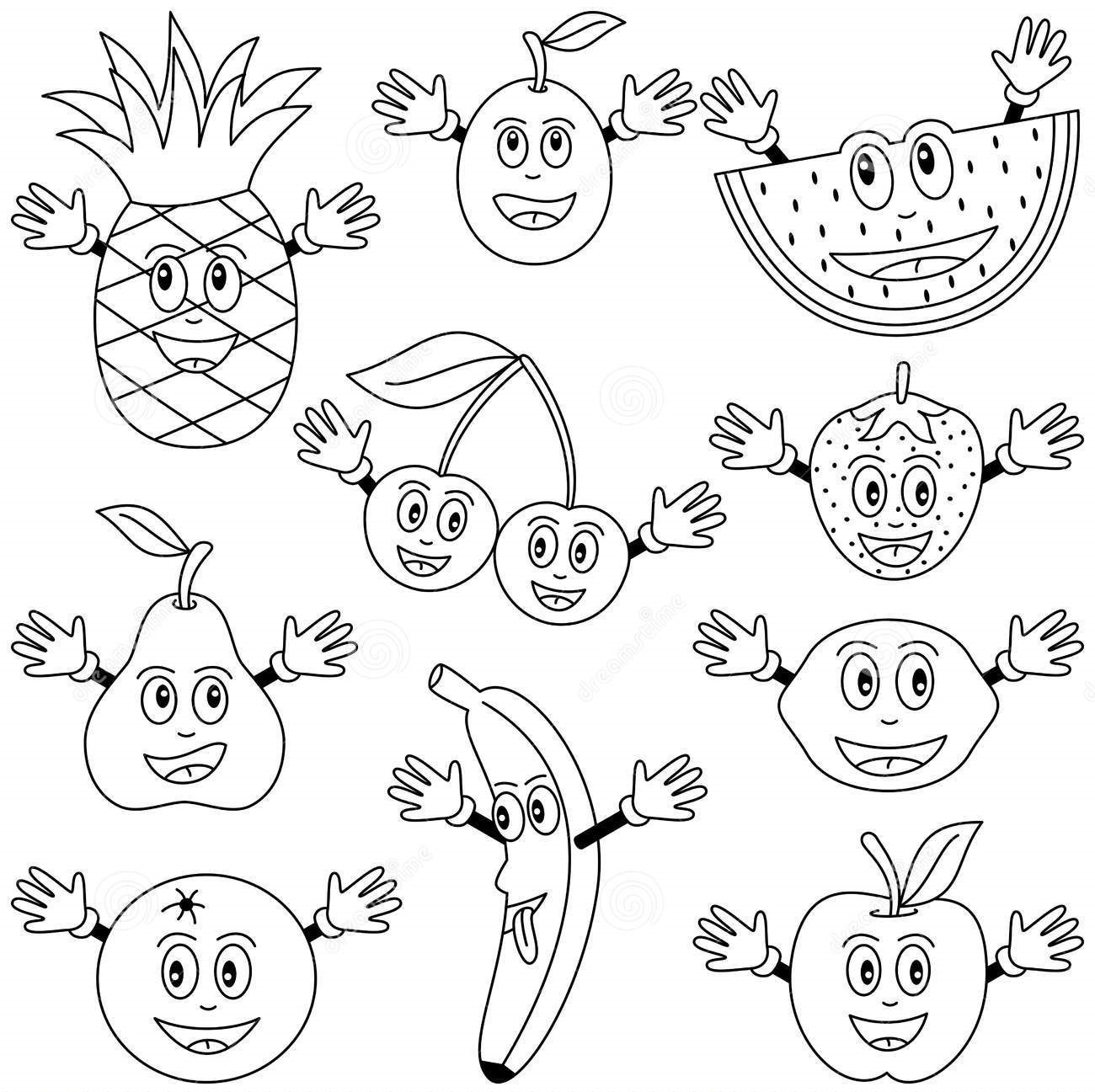 coloring pages fruit art projects for kids esl fruit bowl pages fruit coloring