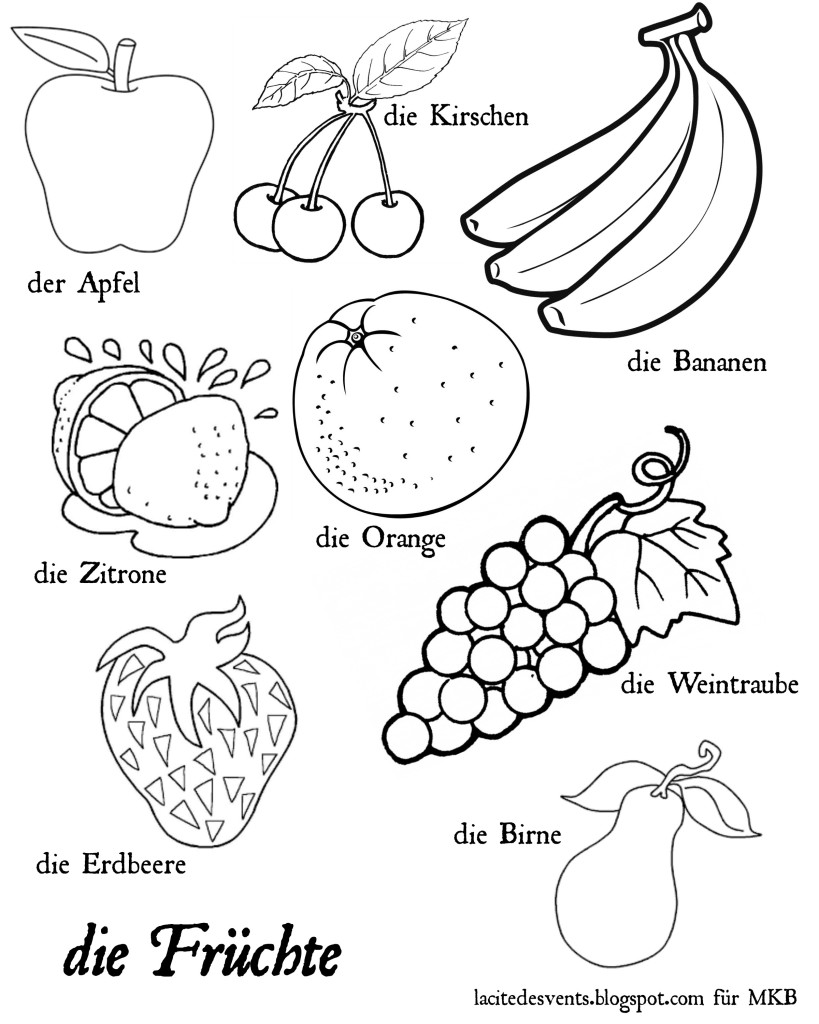 coloring pages fruit free printable fruit coloring pages for kids coloring fruit pages 1 1