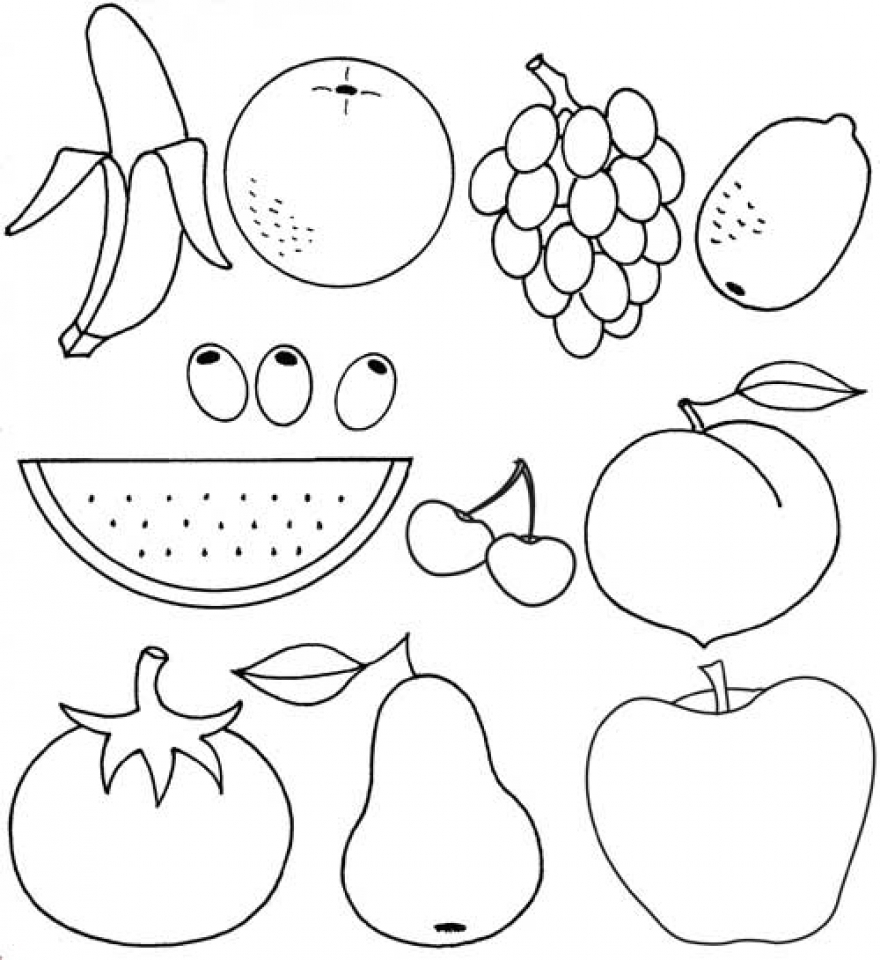 coloring pages fruit free printable fruit coloring pages for kids pages fruit coloring