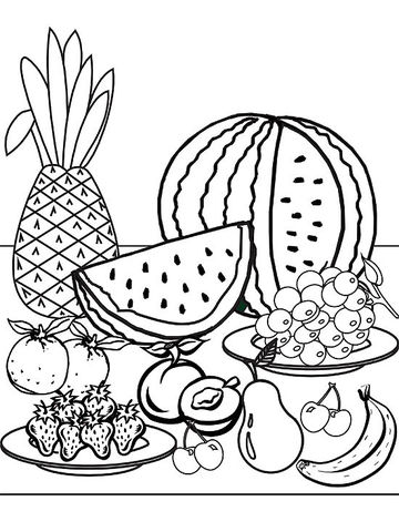 coloring pages fruit free printable fruit coloring pages for kids pages fruit coloring 1 1