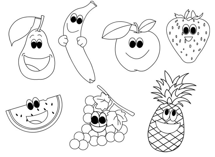 coloring pages fruit fruits coloring pages printable fruit coloring pages