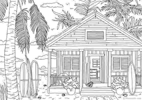 coloring pages house beach house printable adult coloring page from favoreads pages coloring house