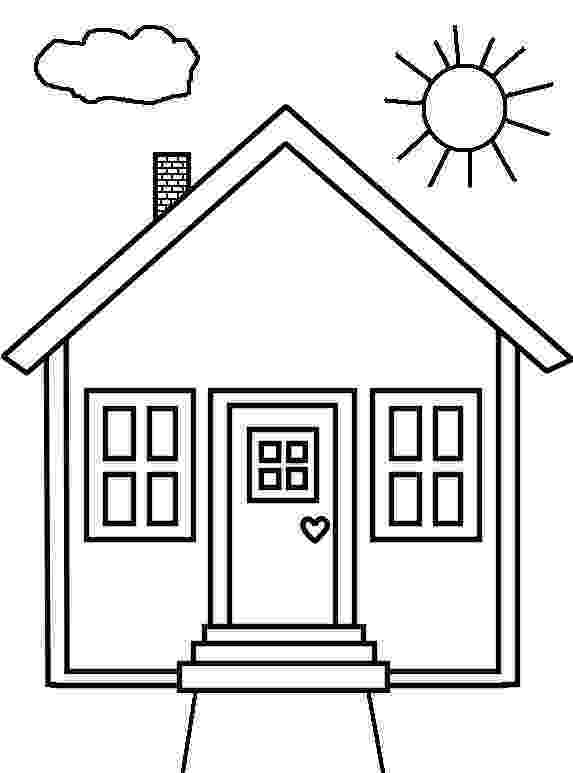 coloring pages house people and jobs coloring pages for kids houses colouring coloring pages house