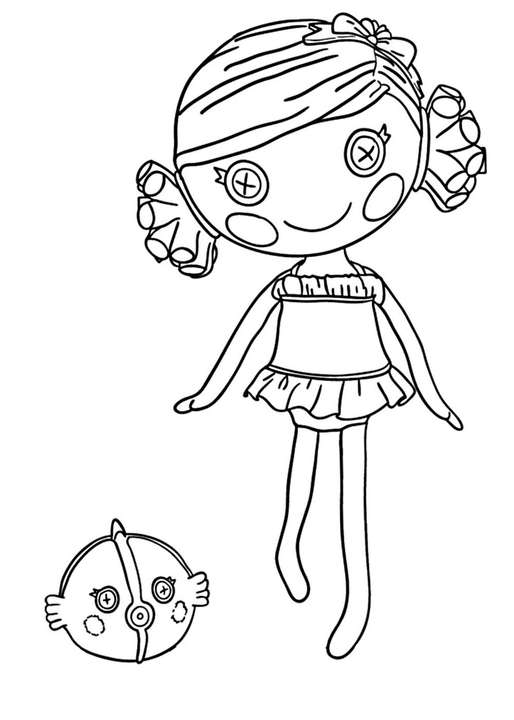 coloring pages lalaloopsy dolls lalaloopsy coloring pages for girls to print for free dolls pages coloring lalaloopsy