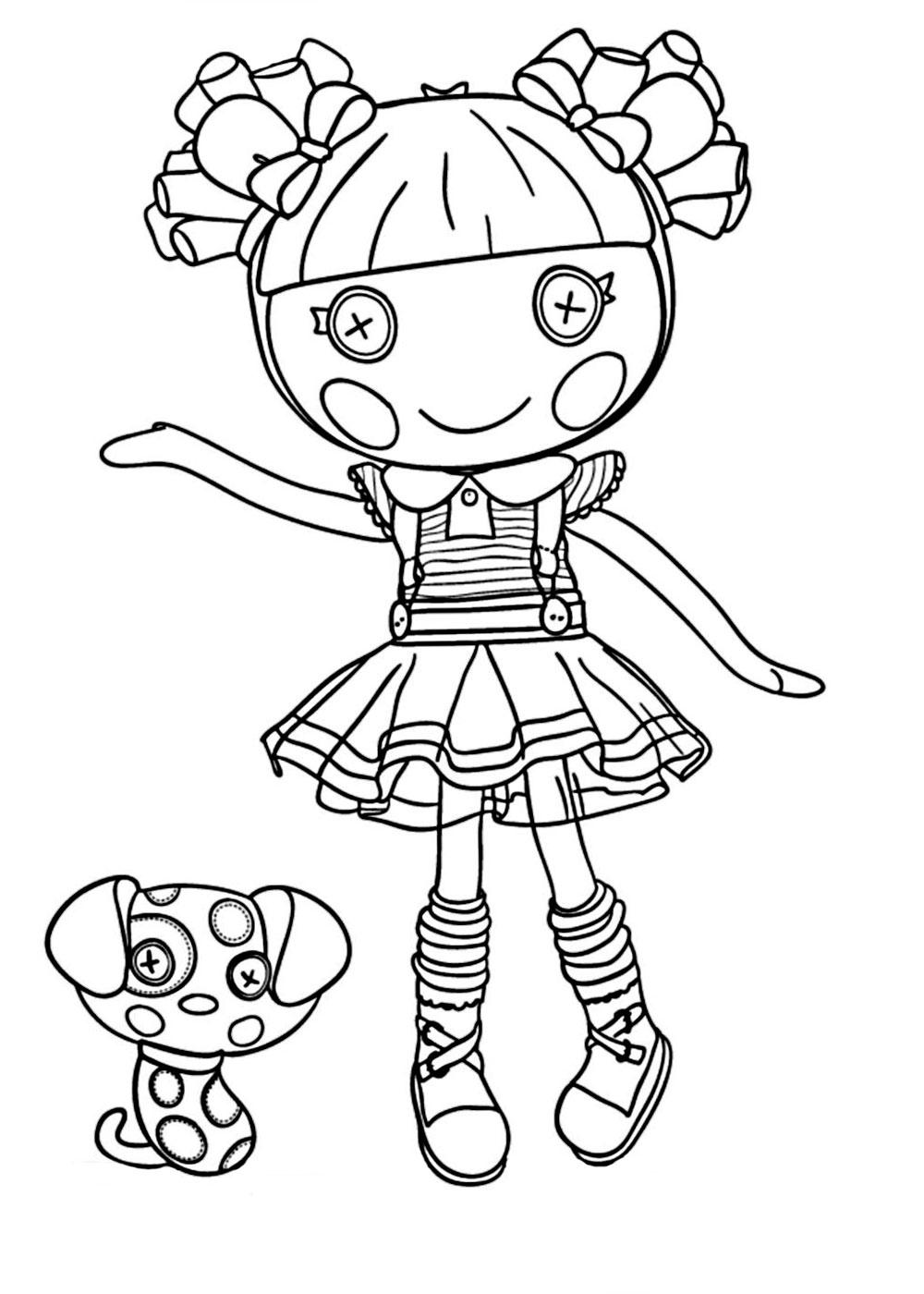 coloring pages lalaloopsy dolls lalaloopsy peanut big top coloring page free printable pages lalaloopsy coloring dolls