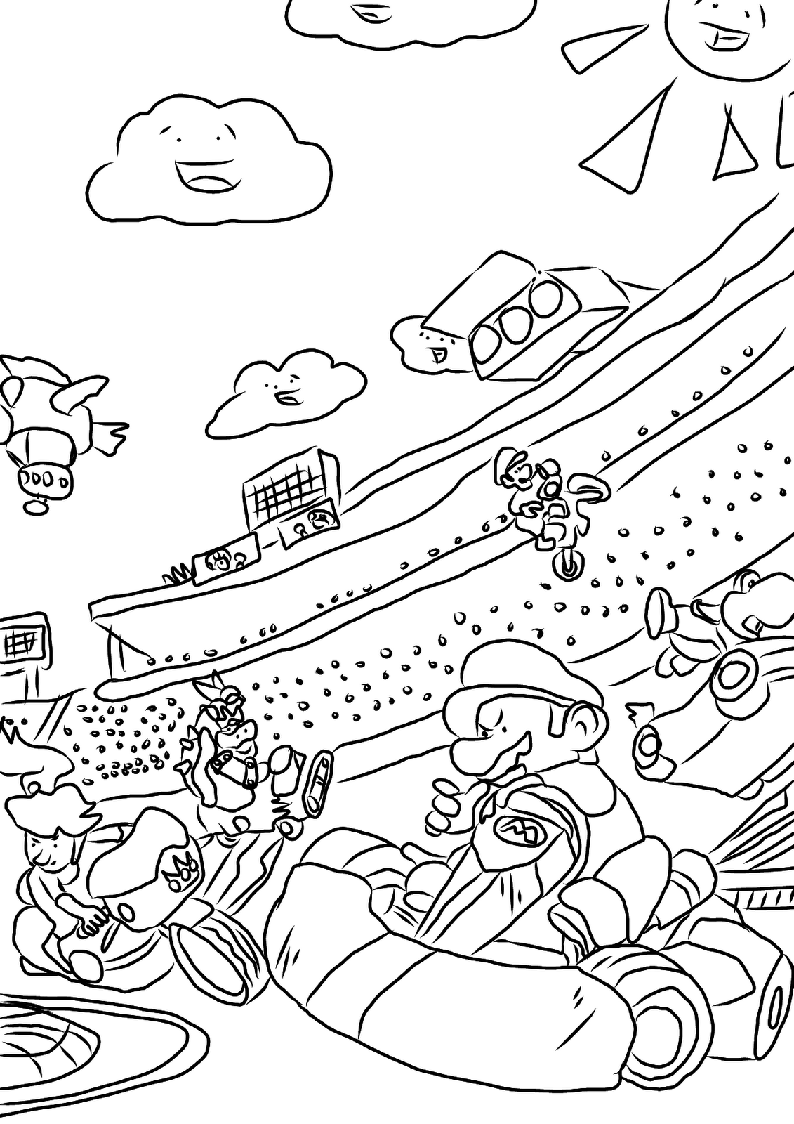 coloring pages mario kart mario kart coloring pages 29233 bestofcoloringcom coloring kart pages mario
