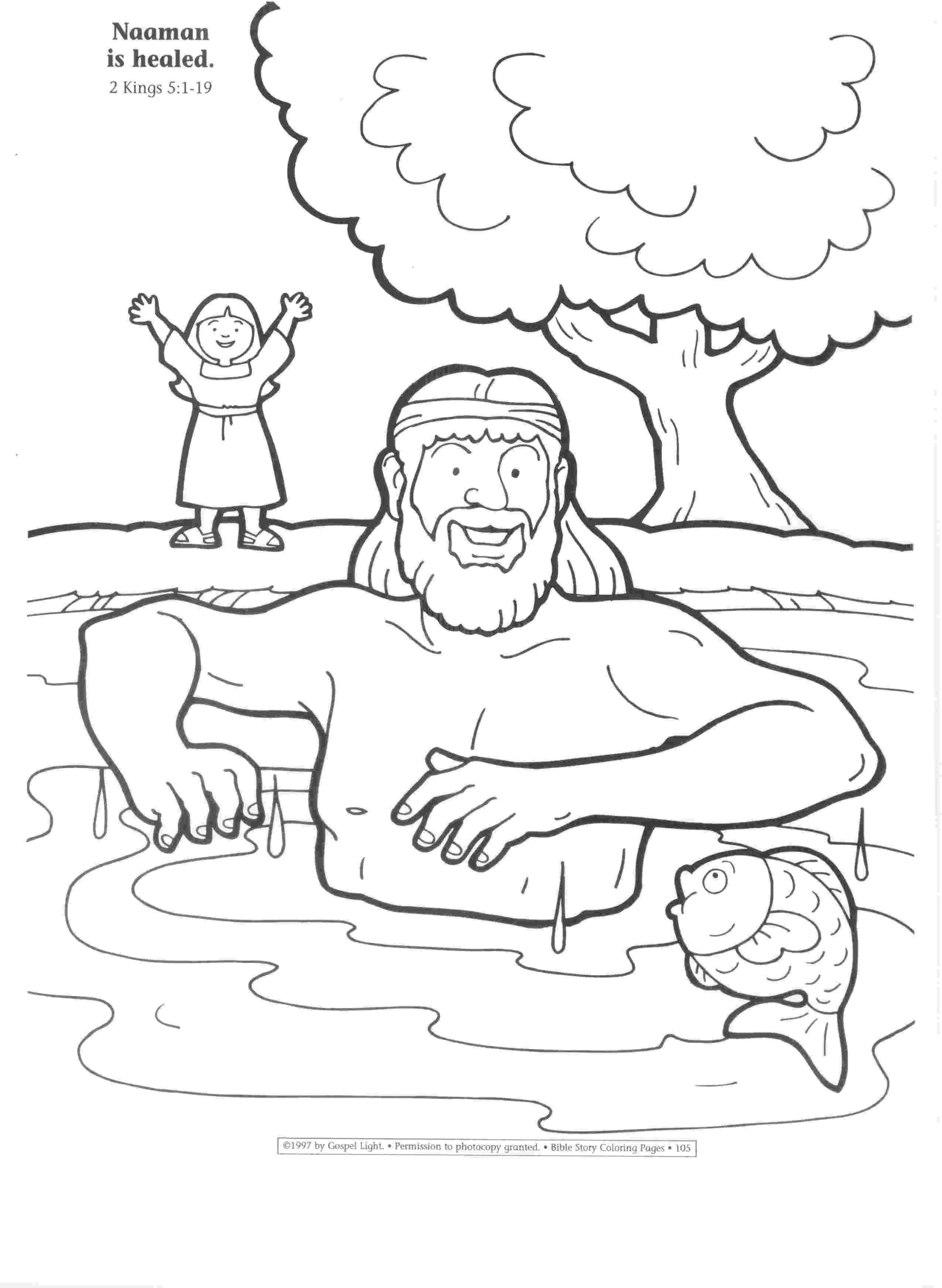 coloring pages naaman being healed 05 slave girl at naaman39s house mtc nae sunday school pages healed being naaman coloring
