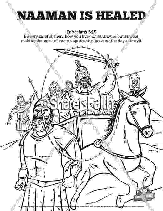 coloring pages naaman being healed 1000 images about bible themed craftssnacks on pinterest pages coloring being healed naaman