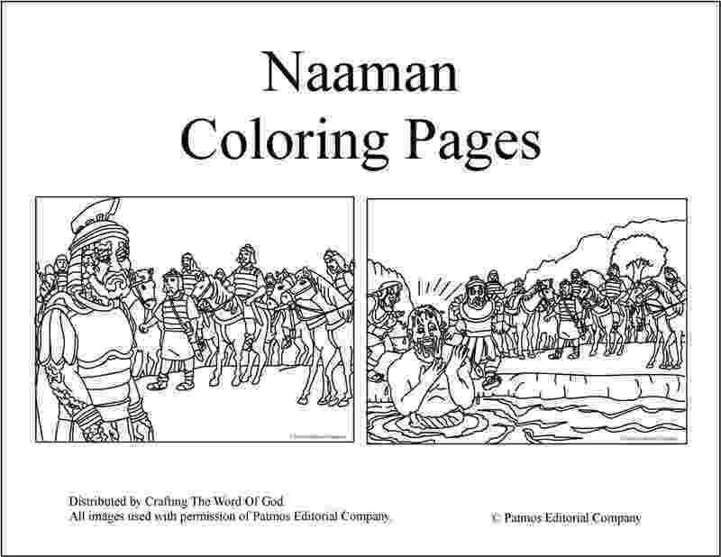 coloring pages naaman being healed naaman coloring page preschool coloring pages coloring naaman being pages healed