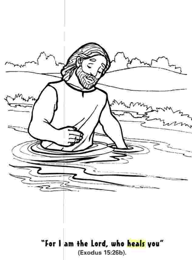 coloring pages naaman being healed naaman healed of leprosy coloring page sunday school coloring pages being healed naaman