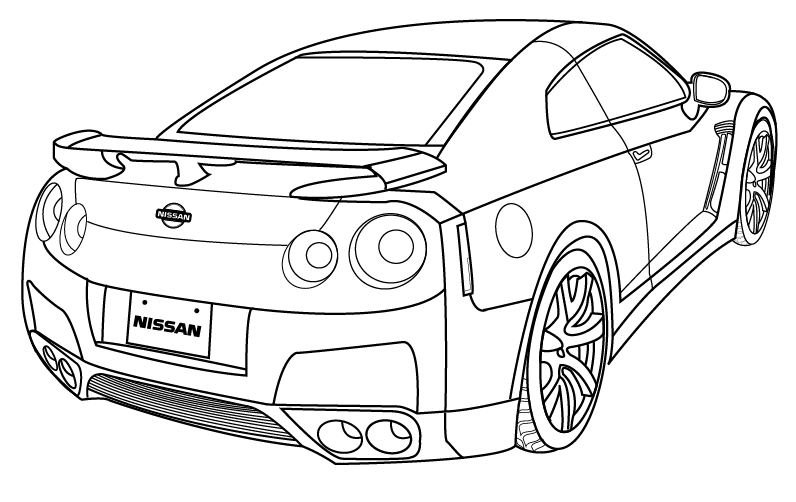 coloring pages nissan gtr nissan gtr coloring pages ofertasvuelo coloring pages gtr nissan