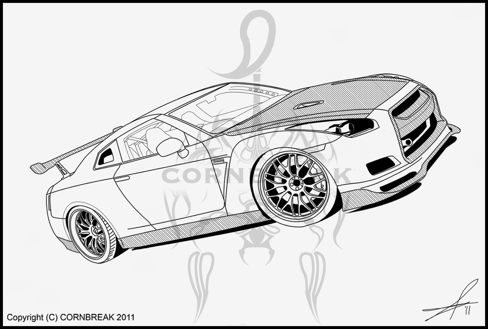 coloring pages nissan gtr nissan gtr drawing at getdrawingscom free for personal coloring gtr pages nissan