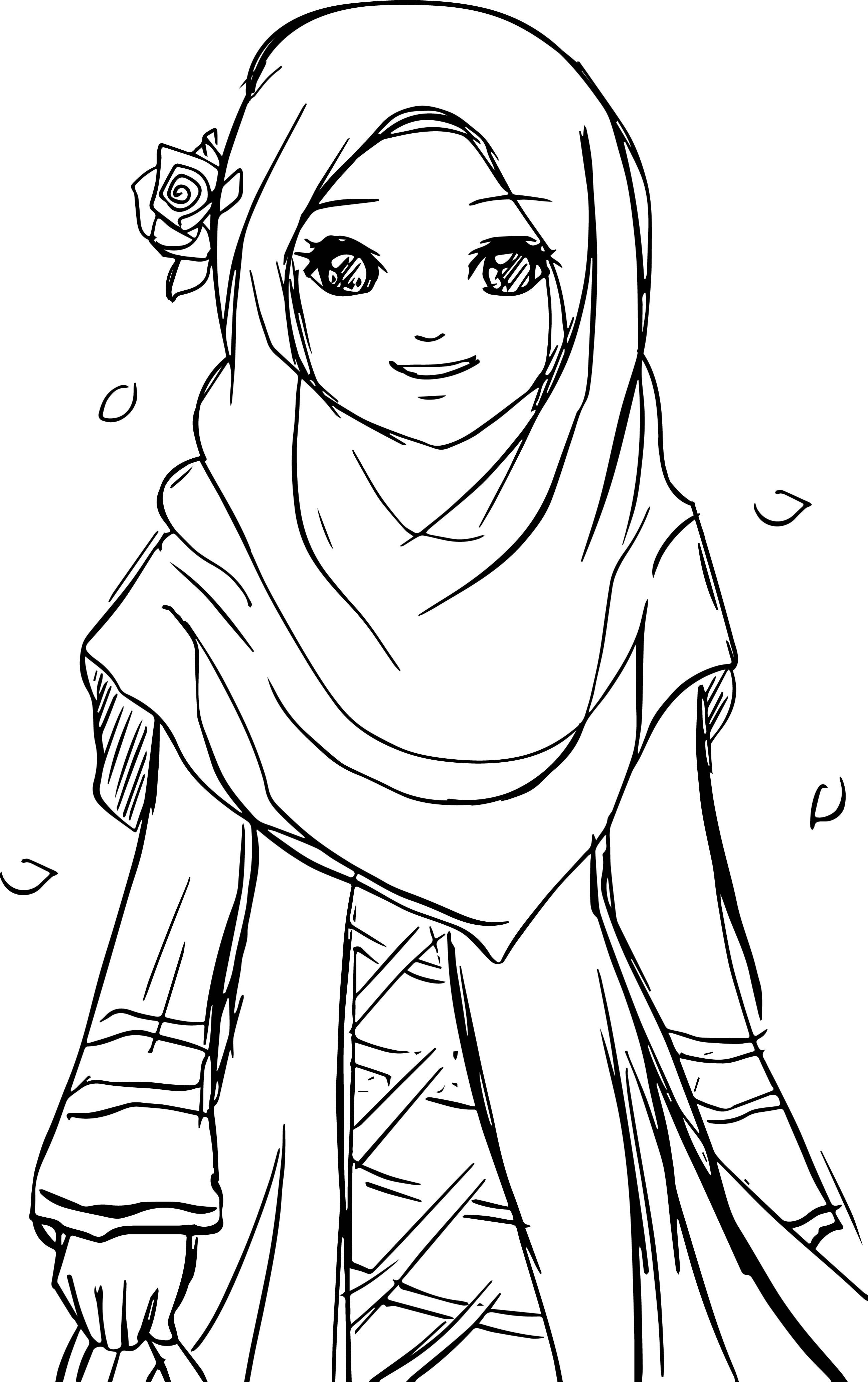 coloring pages of a girl cool islamic muslim wears hijab girl coloring pages of coloring girl a pages