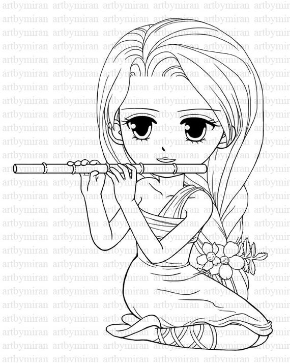 coloring pages of a girl digi stamp serenade pretty girl coloring page big by of pages coloring girl a